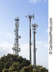 antenas, telecomunicação