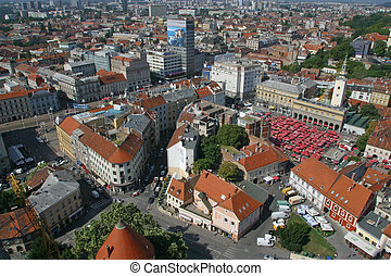Aerial view of Zagreb, Croatia - Aerial view of Zagreb, the...