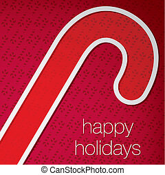 Merry Christmas - Cut out Happy Holidays candy cane card in...