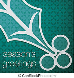 Merry Christmas - Cut out Seasons Greetings tree card in...