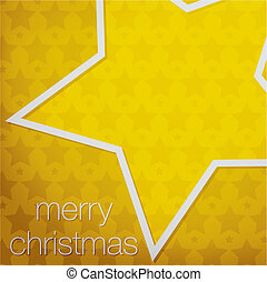 Merry Christmas - Cut out Merry Christmas star card in...