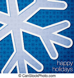 Merry Christmas - Cut out Happy Holidays snowflake card in...