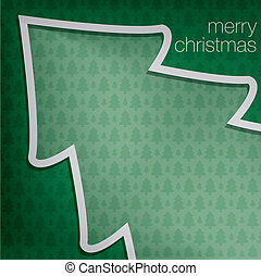 Merry Christmas - Cut out Merry Christmas tree card in...