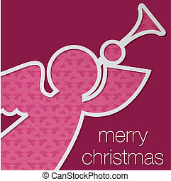 Merry Christmas - Cut out Merry Christmas angel card in...