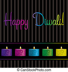 Happy Diwali - Bright Diwali card in vector format