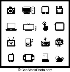 Vector set of electronic and mobile devices