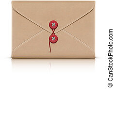 manila envelope - Vector illustration of realistic manila...