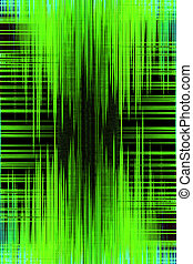 Green audio recording equalizer background - Abstract audio...