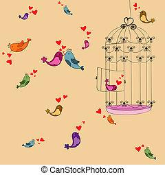 Valentine freedom bird love background