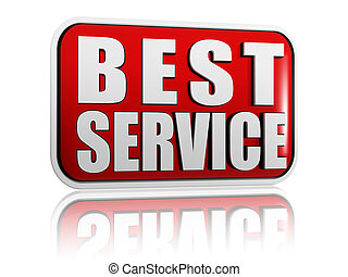 best service in red banner - best service button - 3d red...
