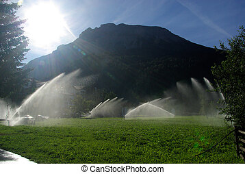 10, irrigação, sistema
