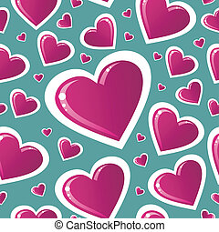 Valentine pink love heart pattern - Valentine day pink love...