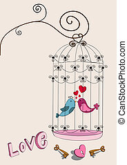 Valentine couple bird love - Valentine day freedom bird love...