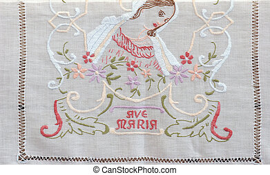 Ave Maria, embroidered Church vestments