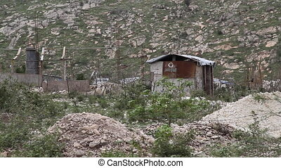 tin shack in Haiti