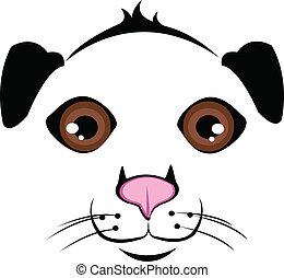 Muzzle Dog vector