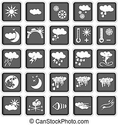 weather icons - Collection of different weather icons