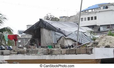 tarp structure Port-au-Prince Haiti