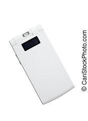 white folding phone