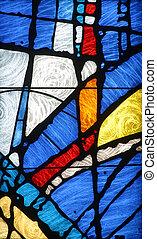 manchado, vidrio, iglesia, ventana