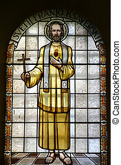 Saint Francis Xavier - Stained glass with st. Francis Xavier