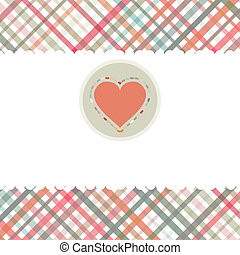 Romantic card with heart template. EPS 8
