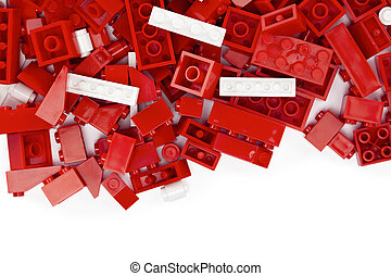 red and white lego bricks - Image of a red and white lego...