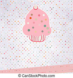 Cupcake please template design. EPS 8