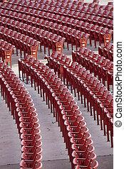 red auditorium seats