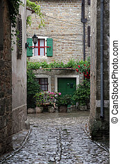 Groznjan in Istra, Croatia - Street in small town Groznjan...