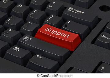 rouges, clé, souligner, soutien