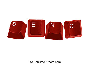 red keyboard keys spelling send - Multiple keyboard keys...