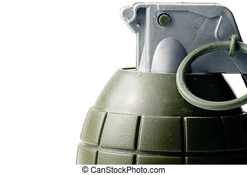 Hand Grenade - A military hand grenade ready for action.