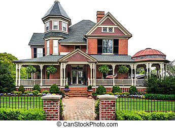 Victorian House - Old Victorian House circa 1900