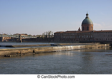The Garonne, Toulouse - View of the Garonne in Toulouse,...