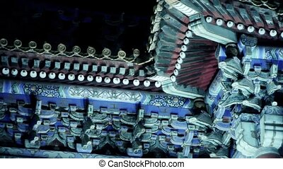 Gorgeous palacePanoramic of Beijing Forbidden City turret in...