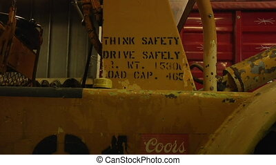 zoom in on safety sign