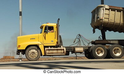 semi truck with dump trailer