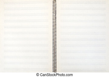 double-page spread of music book - blank double-page spread...