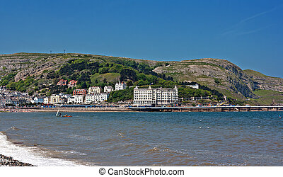Hotels and guest houses on Great Orme, Llandudno, Wales,UK