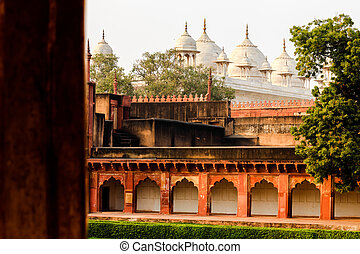 agra fort in agra, uttar pradesh, india