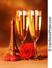 Festive romantic still life