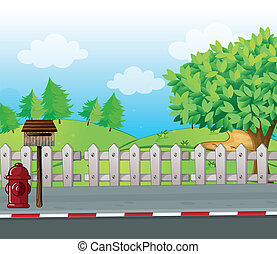 A letter box and a fire hydrant - Illustration of a letter...