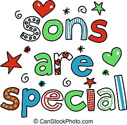 sons are special - whimsical decorative Sons are Special...