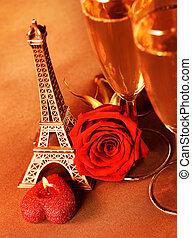 Romantic beverage still life