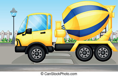 A cement truck - Illustration of a cement truck