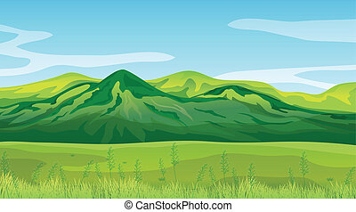 High mountains - Illustration of the high mountains