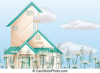 A big house - Illustration of a big house