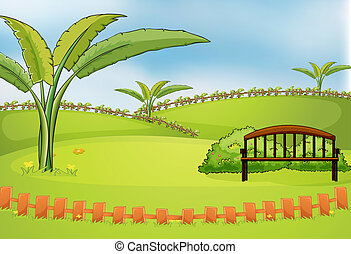 An empty park - Illustration of an empty park