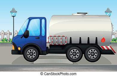 An oil tanker - Illustration of an oil tanker
